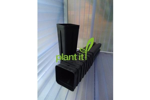 Diepe palmpot vierkant 0,7 liter 7 x 7 x 18 cm